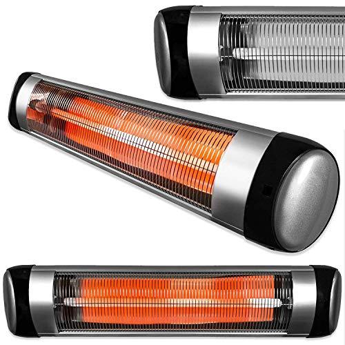 FUTURA Purus 2500W Deluxe Wall Mounted Electric Infrared Outdoor Garden Patio, Bathroom Heater, Waterproof