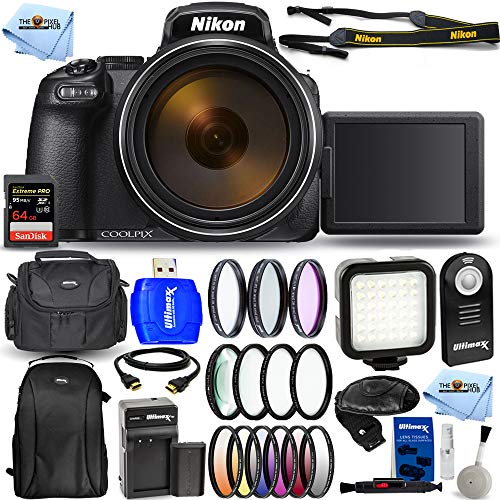 Nikon COOLPIX P1000 16.7 Digital Camera with 3.2'...