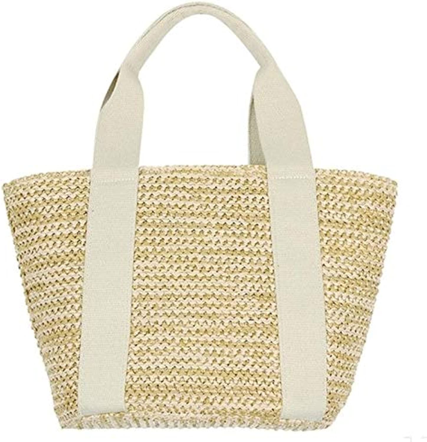 Handmade Kintted Bohemian Straw Bags Women Big Circle Beach Handbags Summer Vintage Rattan Travel Bag