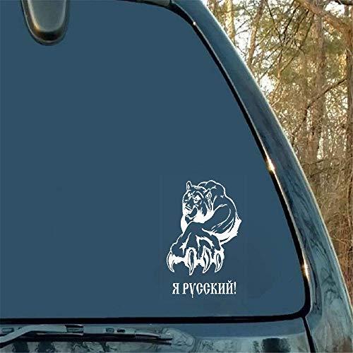 Verergerde beer zet zijn scherpe grijper-auto-stickers voor auto-raam-deur-achterste voorruit uit.