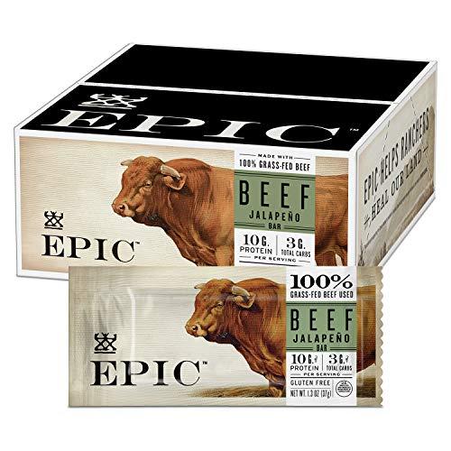 EPIC Beef Jalapeno Protein Bar Keto Consumer Friendly, 12CT 1.3oz Bars