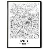 kizibi JUNOMI® Berlin Poster XL Schwarz Weiss, DIN A2