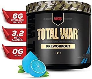 Redcon1 - Total War - Preworkout - All New (15 Servings) Boost Energy, Increased Lasting Endurance, Citrulline Malate, Bet...