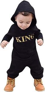 MRULIC Reizender Baby Playsuit Overall Kaninchen Ohr Badysuit stellt Outfit Pullover Jumper Herbst Frühlings Oberbekleidung Langhülse Knopf unten Hosen EIN