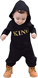 Toddler Baby Boys Clothes, Toddler Kids Baby Letter Boys Girls Hoodie Outfits Clothes Romper Jumpsuit
