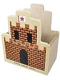 スーパーマリオブラザーズ 木製ダイカット小物入れC(砦)MZ07