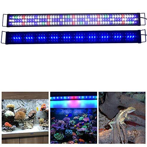Aquarien ECO Rampe LED Aquarium 120CM Blanc Bleu Rouge Vert Lumière Naturel Spectre Complet...