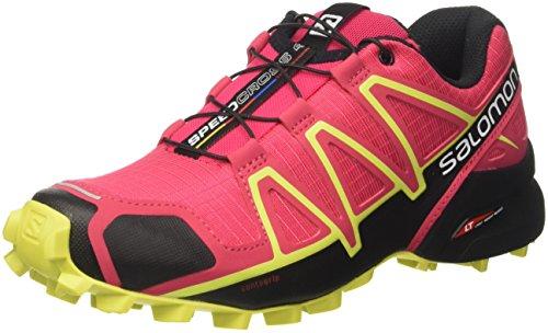 Salomon Salomon Damen Speedcross 4 Gtx Traillaufschuhe , Rosa (Virtual Pink/Black/Sulphur Spring 000) , 38 2/3 EU
