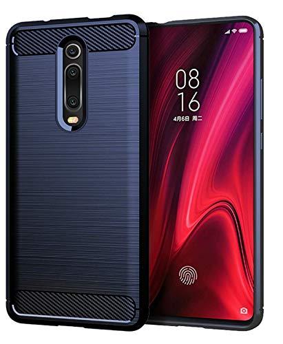 Capa Capinha Anti Impacto Para Xiaomi Mi 9T E Redmi K20 e K20 Pro Tela De 6.39 Case Com Desenho Fibra De Carbono - Danet (Azul escuro)