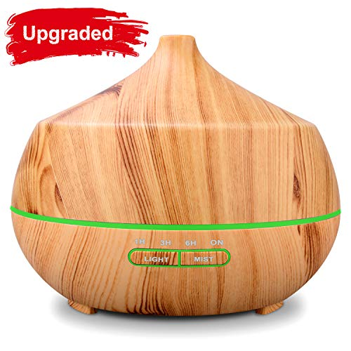 y-marbre-color Last on A Full Day or Night TOMNEW 400ML Essential Oil Diffuser Ultrasonic Aromatherapy Air Humidifier Wood Grain Cool Mist Aroma Diffuser Large for Home Office Spa Baby Kids Room