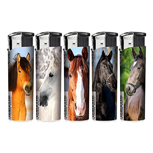 Lotto 6 - elettronica ricaricabile Accendino `Horses` assortiti - Qualità COOLMINIPRIX