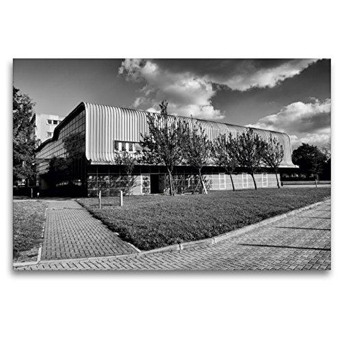 Premium Textil-Leinwand 120 x 80 cm Quer-Format Experimentelle Fabrik | Wandbild, HD-Bild auf Keilrahmen, Fertigbild auf hochwertigem Vlies, Leinwanddruck von Beate Bussenius