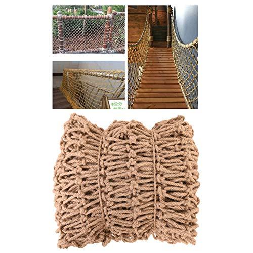 Hwt Tarnnetz Netting Jute Netze Zaun Schutznetz Starkes Gewicht for Hängebrücke Schaukel Kinder Outdoor Kletterspiel Multifunktions Anpassbare Größe (Size : 14mm/16cm)