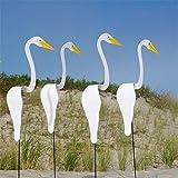 Flamingo Swirl Bird Wind Spinner EIN wunderlicher und dynamischer Vogel Flamingo Windspiele für Garten Valentinstag Animal Windspiele für Gartendekorationen im Innenhof (40 cm, white)