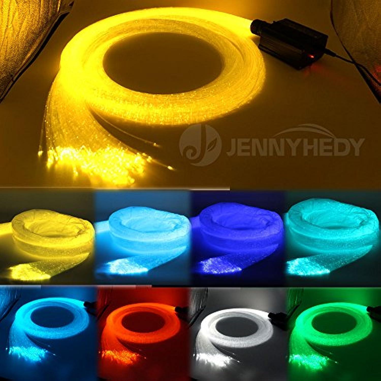 JennyHedy LED Lichtfaser Set  16W Flammpunkt RGBW Glasfaser RGBW Sternenhimmel, mit 300 pcs 1,0mm 3 m (9,8ft) wasserfall sensorische licht kit + 28key Fernbedienung(Glasfaserleuchten)