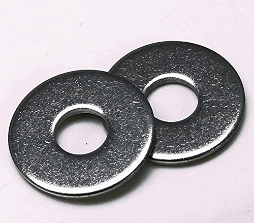 Arandela de acero inoxidable A2 DIN 9021, arandela de sujeción (acero inoxidable V2A, 100 unidades M8)