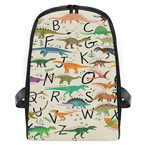 ISAOA ABC Dinosaurios niños Mochila Escolar, Mochila para niños, Mochila Ligera y Duradera, Bolsa de Viaje para Libros, Bolsa de Escuela para niños de 2 a 7 años