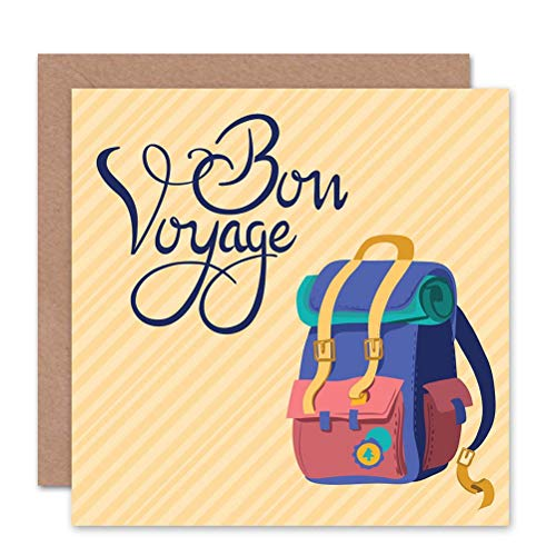 Wee Blue Coo TRAVEL LEAVING BON VOYAGE NIEUWE ART GREETINGS Cadeaukaart