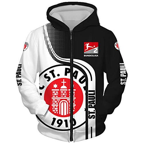 N/A-SHAOFA Männer Hoodies Zum St-Pauli 3D Drucken Kapuzenpullover Pullover/Zip Jacke Unisex Sweatshirts Jersey Sport / B1 / XXL