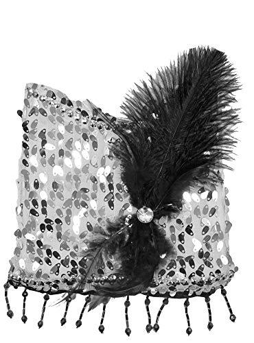Charleston Pailletten Handtasche - Silber - Zauberhafte Party Umhängetasche zum 20er Jahre Gatsby Kostüm