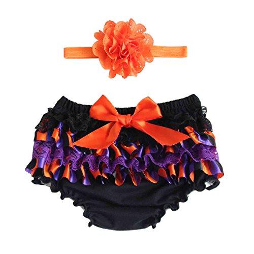 Fenical Baby-Rüschen-Spitze-reine Baumwollschlüpfer-Windel-Abdeckung für Halloween-Größe M