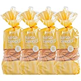 Kiss My Keto Bread Golden Wheat — Zero Carb Bread (0g Net), 6g Protein / Slice | Sugar Free, Low...