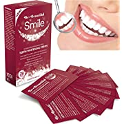 28 Teeth Whitening Strips, Zero Peroxide & Chlorite, Enamel Safe, Mint Flavoured Dissolvable Whitening Strips, Easy to Use Rapid 15 Minute Professional Treatment, Whitens & Shines Teeth, Refreshes Breath & Kills Oral Bacteria, Safest 5 Star UK Made Pharmaceutical Grade Proven by Consumer Trials |SUPER SAVER! ONLY £2.99 FOR 28 STRIPS-NO OUTER BOX | FREE UK DELIVERY