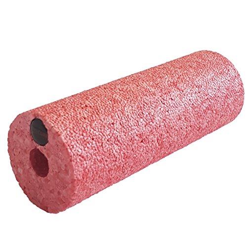 diMio Mini-Epp Hartschaum für Unterwegs Oder bei Der Arbeit Faszienrolle, in 3 Farben und Härtegraden - Schwarz (sehr hart), Rot (hart), Blau (mittlere Härte), 15x5.4cm (Rot (hart))