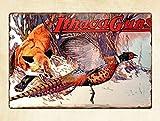 ZMKDLL Ithaca Guns Fox and Pheasant Metal Sign Plaque Wall Art 12'x8'