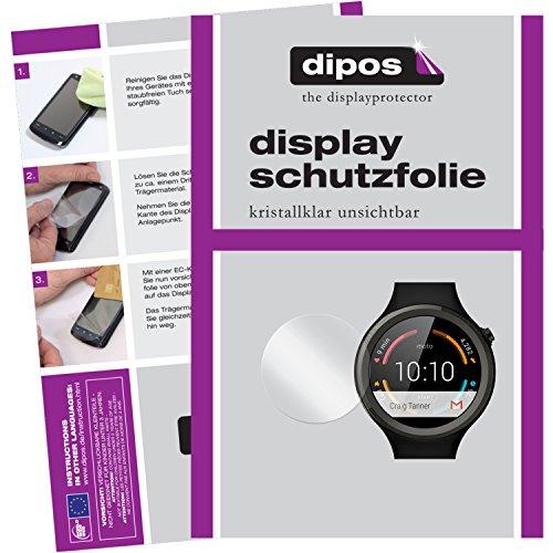 dipos I 2X Schutzfolie klar kompatibel mit Motorola Moto 360 Sport Folie Bildschirmschutzfolie