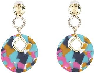 Acrylic retro Dangle Earrings,Ladies fashion jewelry earrings,Simple Light Cute Women Earrings