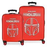 Star Wars Legend Juego de Maletas Rojo 55/68 cms Rígida ABS Cierre de combinación Lateral 104L 6 kgs 4 Ruedas Dobles Equipaje de Mano