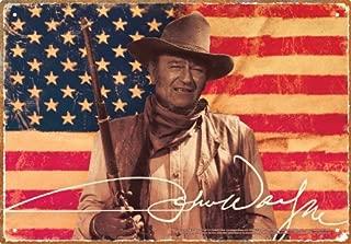 Aquarius John Wayne Flag Tin Sign
