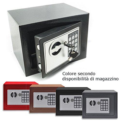 DOBO Cassaforte a muro da incasso tastierino digitale in ferro con due chiavi combinazione di sicurezza casa albergo camera - Colore Casuale