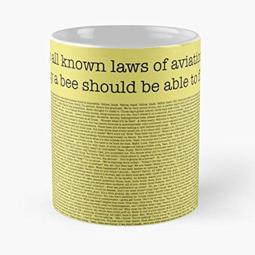 The Entire Bee Movie Script Classic Mug -11 Oz Coffee - Funny Sophisticated Design Great Gifts White-situen.