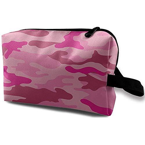 Voyage Cosmetic Bag Portable Sac À Main Rose Camouflage Trousse De Toilette Petit Maquillage Sacs Cas Organisateur
