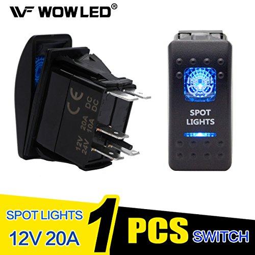 Luz LED de trabajo para conducción, impermeable retroiluminado con interruptor basculante para coche, camión, 4X4, monovolumen y barco. De WOWLED.