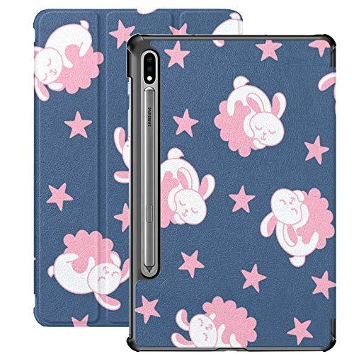 Funda Galaxy Tab S7 Plus con Soporte para bolígrafo S Good Night Baby Funda de Piel sintética Bonita para Samsung Galaxy Tab S7 Plus 12,4 Pulgadas 2020, Funda Galaxy Tab S7 Plus con activación/susp