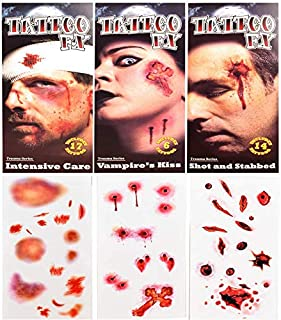 UgyDuky 2 Sheets Halloween Makeup Stickers Temporary Tattoos Waterproof Face Tattoos for Halloween Masquerade Party Sweatp...
