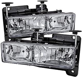 For 88-98 C10 C//K Silverado Sierra 94-99 Suburban Matte Black Headlights Lamps