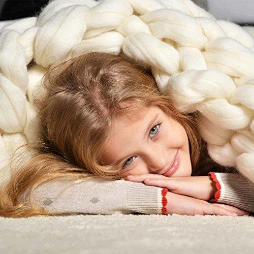 Adorist small (80x130cm) - Wolldecke Cosima Chunky Knit small 80x130cm, weiß Weiss