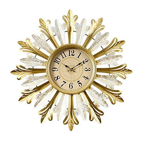 WSDDNXM Reloj de Pared Silencioso sin tictac de Cuarzo Funciona con Pilas Pintura Creativa Hecha a Mano Ronda Hogar/Oficina/Aula/Escuela Reloj Decorativo para el hogar