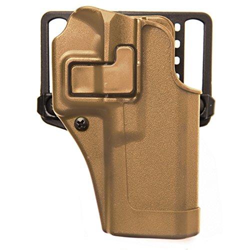 BLACKHAWK Serpa CQC Carbon Fiber Coyote Tan Holster (Matte Finish), Size 04, Left Hand, (Beretta 92/96(not Elite/Brig.or M9A1)