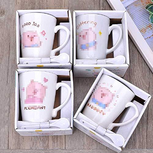 Student Trinkt Kaffeetasse Emoji Bear Activity Cup 301-400 ml / 112-1 / Schweinchen