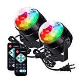 LUNSY Partylights Discoball 360 °Rotatable Discolights Sound Activated Remote Control Dj Lighting [Newest 2020]7 Color Patternes+3 Lightning Mode+6 Colours for All Parties, Wedding, DJ and More
