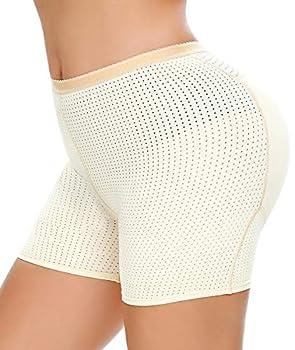 NINGMI Womens Butt Lifter Seamless Hip Enhancer Underwear Booty Fake Padded Shaper Boyshorts Nude