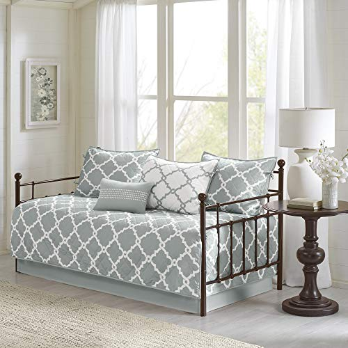 Madison Park Essentials Merritt Coverlet&BEDSPR, Daybed, Grey