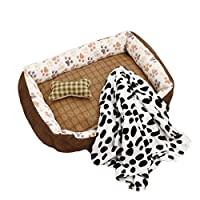 の犬や猫のための犬のベッド通気性クッション、滑り止め熱ソファパッド耐水性スタッフィング綿のペットベッド