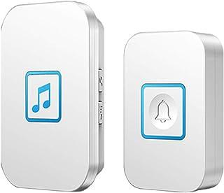 Wireless Doorbell, IP44 Waterproof Doorbells with 300M Range,1 Push Button And 1 Receivers with LED Flash,60 Ringtones,5 V...
