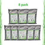 Activated Bamboo Charcoal Bags, Natural Air Purifying Fresheners,Moisture Remove for Home, Car, Closet, Bathroom (8 x… 8 NATURAL AIR PURIFIER-->>100% activated bamboo charcoal contains millions of tiny porous holes that naturally absorb and eliminate odors. This makes bamboo charcoal the perfect natural air freshener and odor remover. SAFE-->>Our activated charcoal air purifier bags are safe and effective, which has no fragrance or chemicals. They can purify your space air in the most natural, 100% safe way! It absorbs moisture and unpleasant odors like a sponge. These natural bamboo charcoal deodorizers are sure to be safe and you can leave it around your pets and your children while no worry for any incidents that might jeopardize their health. WIDE APPLICATIONS-->>The bamboo activated charcoal odor absorber bags has deodorizing and dehumidifying functions and which makes them work efficiently at any time and any place. It can be used in car,gym bag,smelly shoes,pet areas,bedroom,bathroom and fridge. Put the activated charcoal bag in these places, and it can absorb moisture or stink smell quickly and keep air fresh.